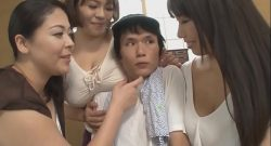 foursome with three busty japanese mothers